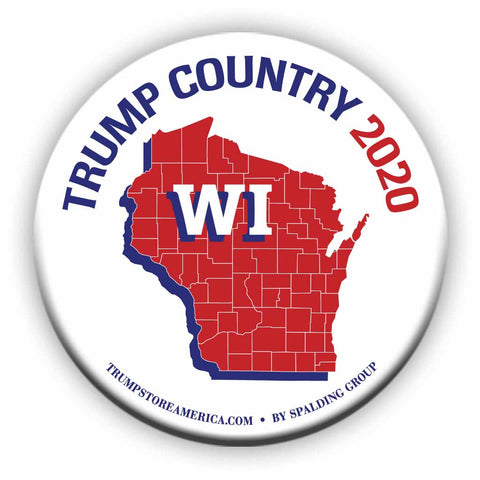 "Wisconsin is Trump Country 2020 – 3"" Round Button"