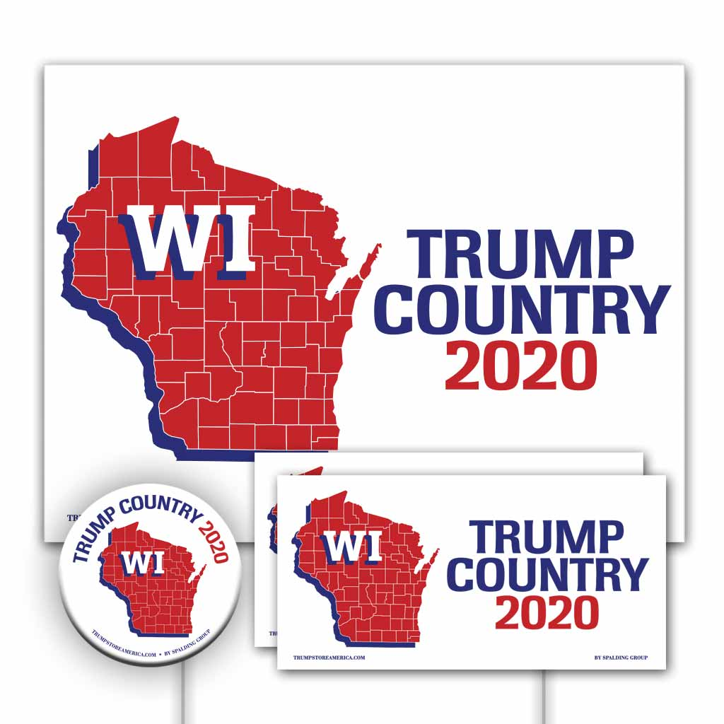 Wisconsin is Trump Country Yard Sign Kit