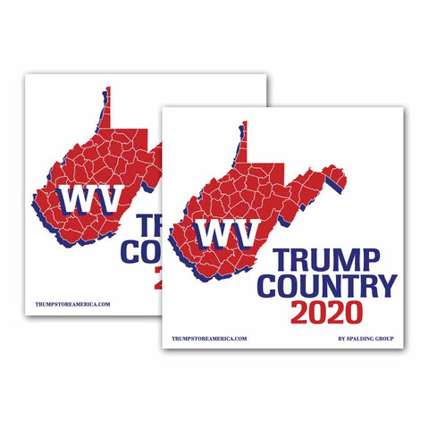 West Virginia is Trump Country 2020 – Bumper Sticker pack of 2