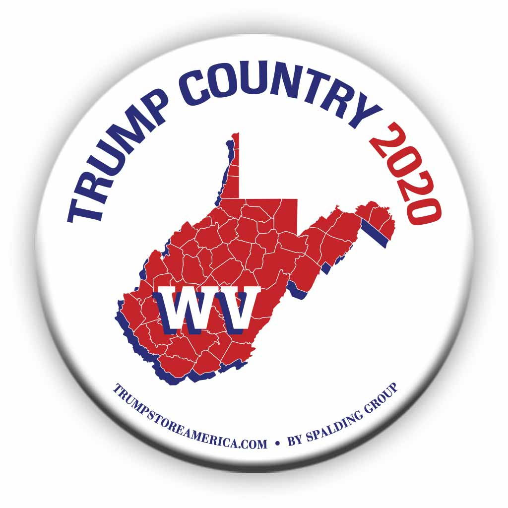 "West Virginia is Trump Country 2020 – 3"" Round Button"