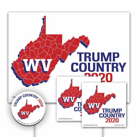 West Virginia is Trump Country Yard Sign Kit