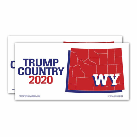 Wyoming is Trump Country 2020 – Bumper Sticker pack of 2