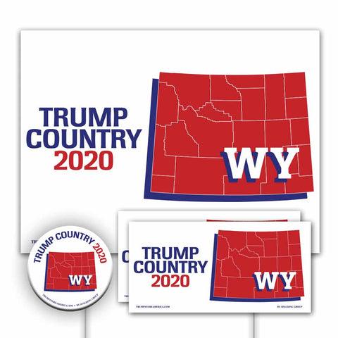 Wyoming is Trump Country Yard Sign Kit