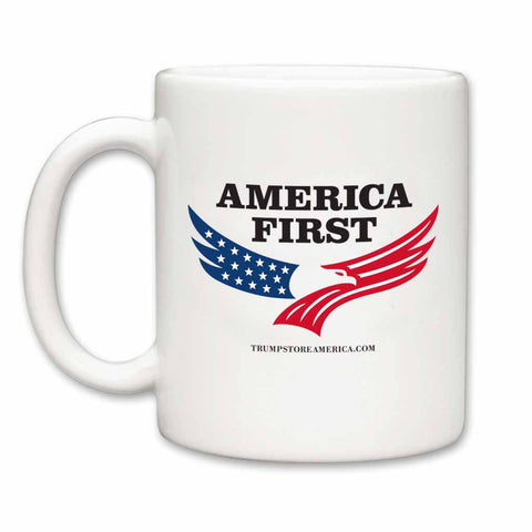 America First Coffee Mug White