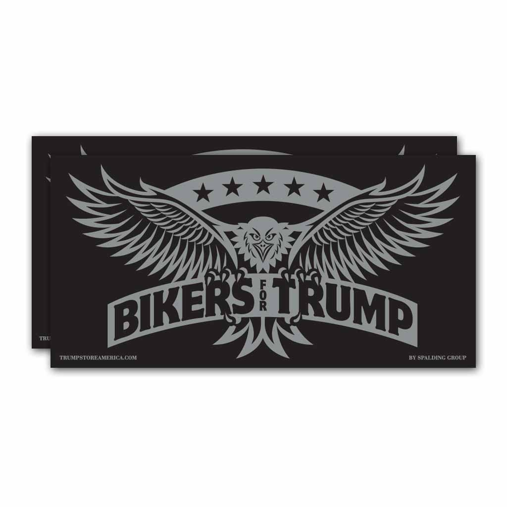 "(Pack of 2) Bumper Sticker - ""Bikers for Trump"""
