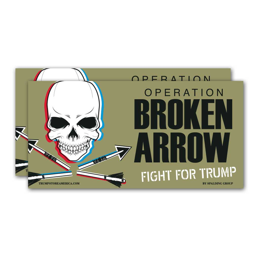"Trump Sticker - ""Broken Arrow"""