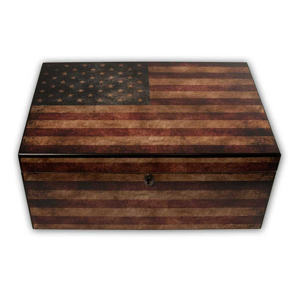 American Flag Cigar Humidor (personalization option)