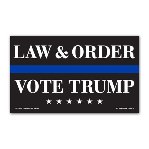 Law and Order Vinyl 5' x 3' Banner