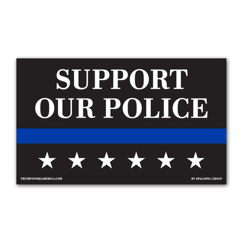 Support Our Police Vinyl 5' x 3' Banner