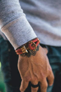 The Red/Gold Anchor Bracelet