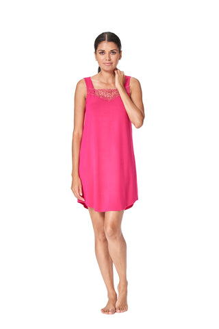 Gwen - 8030 -  Sleeveless NightShirt with applique