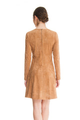 Lima - 8407 - Faux Suede Dress