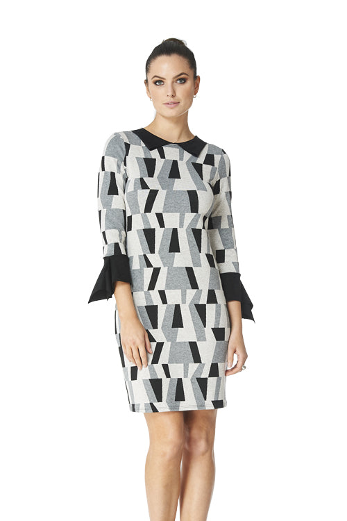 Everly - 8610 - Reversible Jacquard Dress