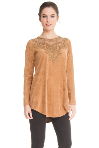Lima - 9407 - Faux Suede Tunic