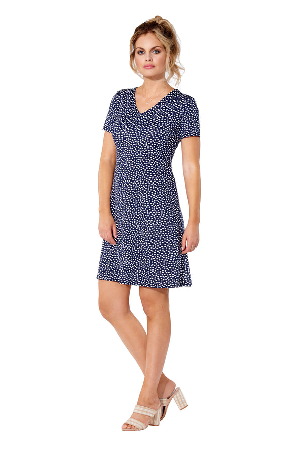Alexia - 8502 - Blue Polka Dot Dress