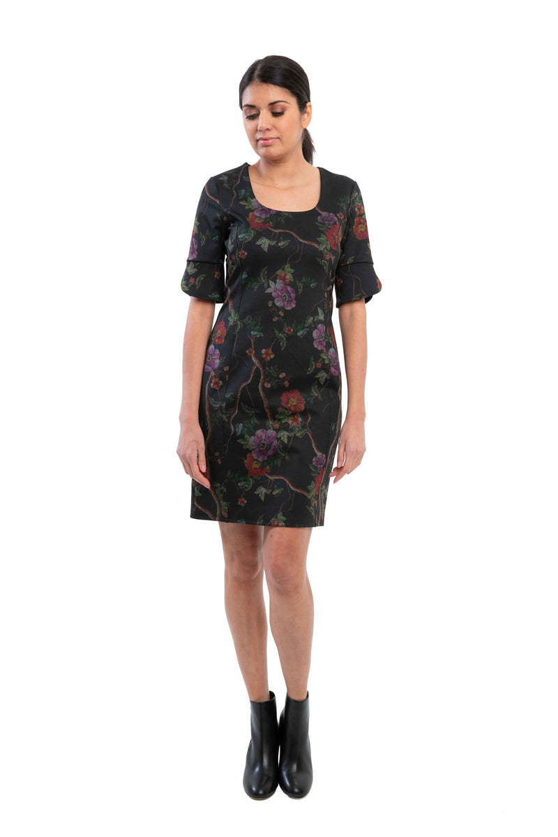 Bella - 8375 - Ponte De Roma Floral Dress