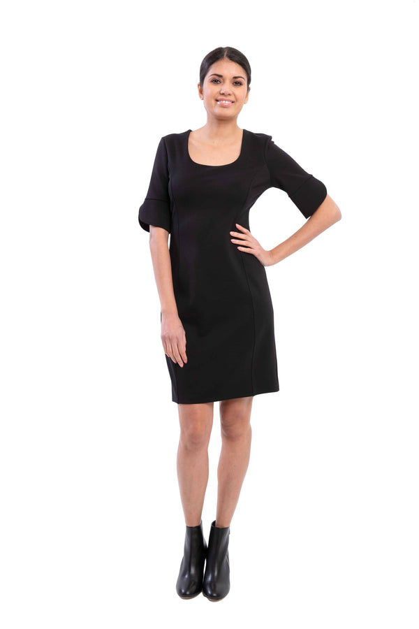 Bella - 8374 - Ponte De Roma Black Dress