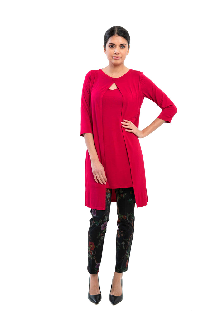 Carmel - 9614 -  Rayon Tunic with layers