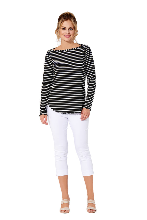 Elisa - 7319 - Boat Neck Top