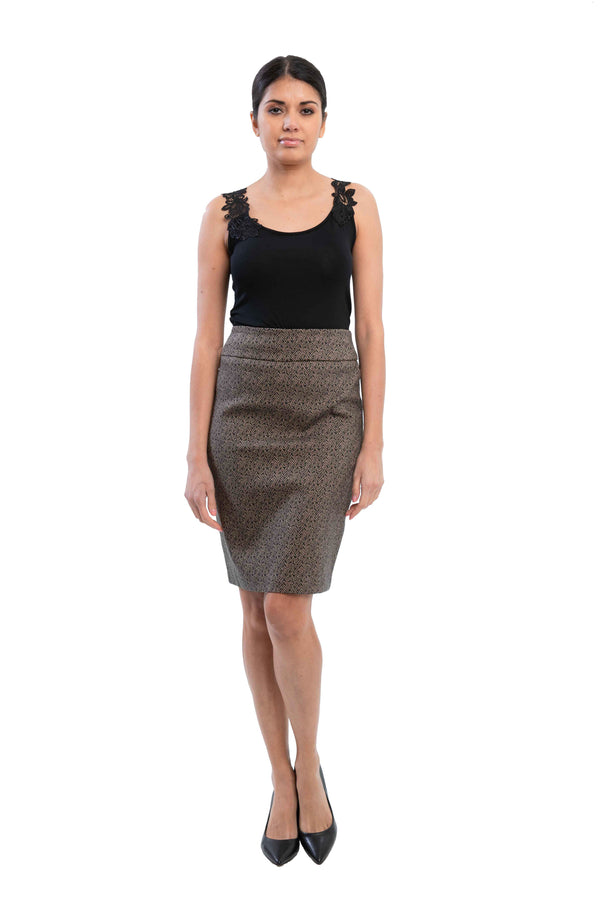Chicago - 3272 - Slimming Elastic Waistband Skirt