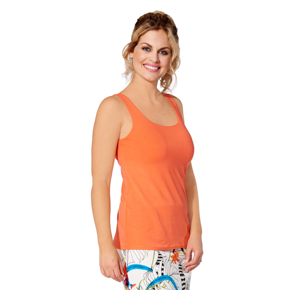 Marie - 5305 -  Solid Papaya Rayon Camisole