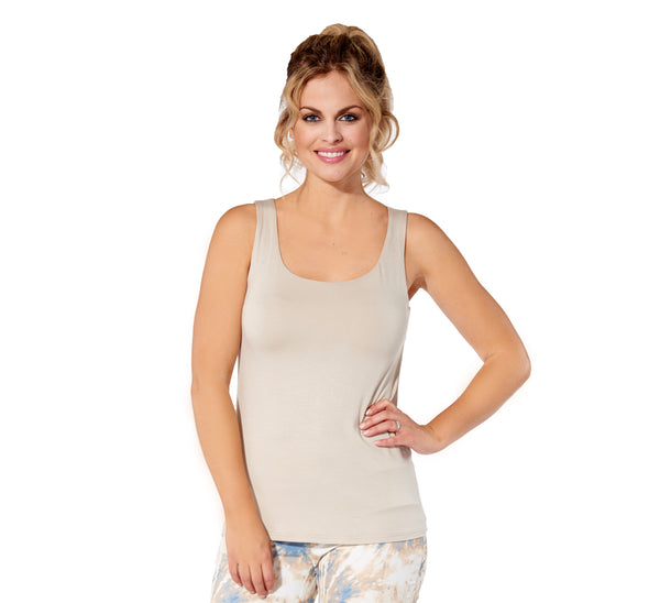 Marie - 5305 -  Solid Sand Rayon Camisole
