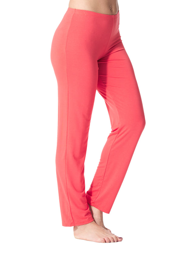 Lilianne - 4413 -  Coral Solid Pant