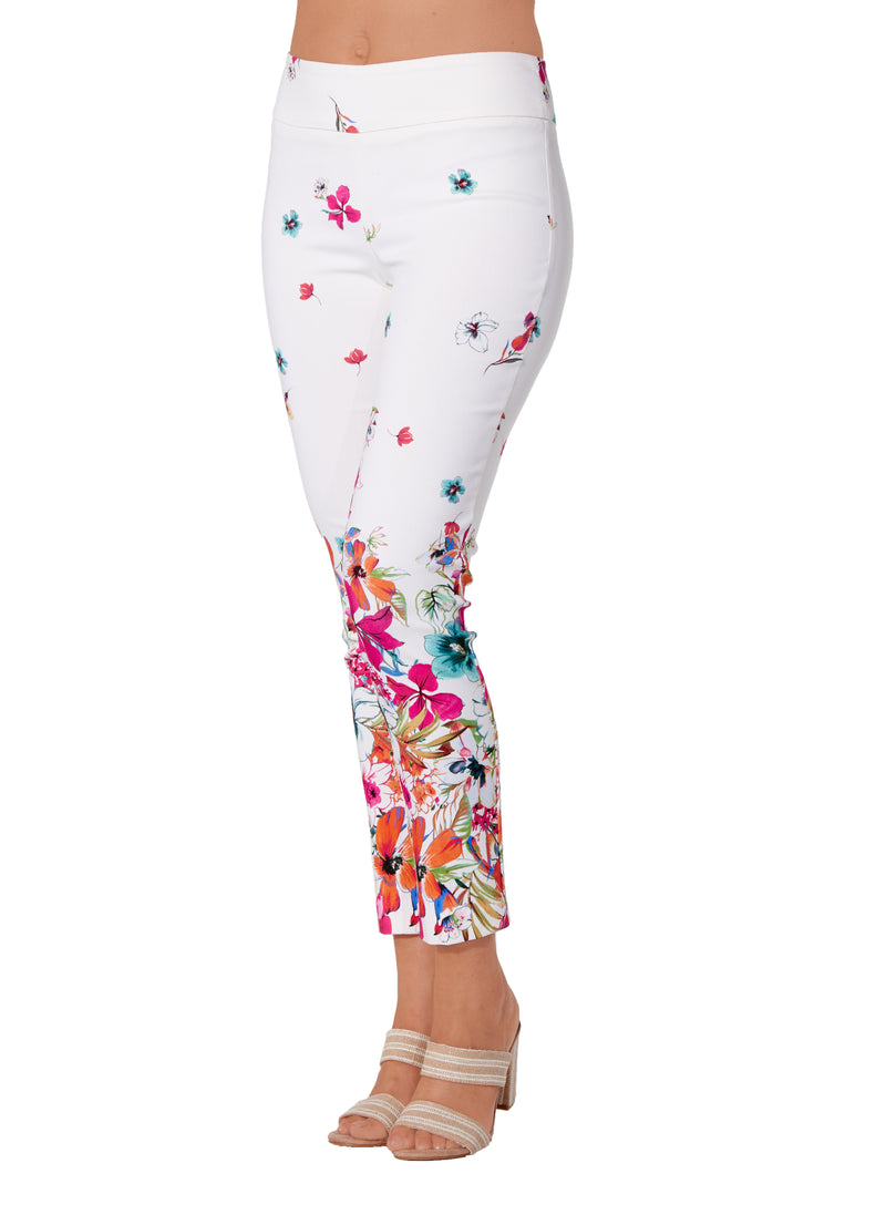 Fushia Floral Border - 4234 - Pull-On Pant