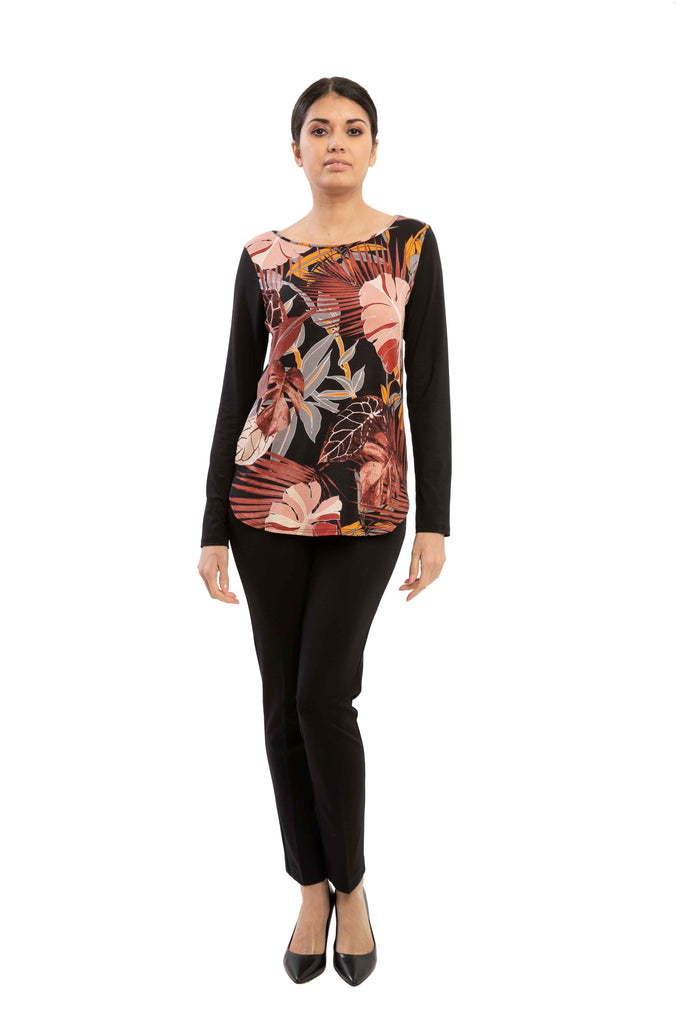 Parker - 7672 -  Rayon Printed Top