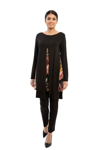 Parker - 9672 -  Rayon Printed Tunic with layers