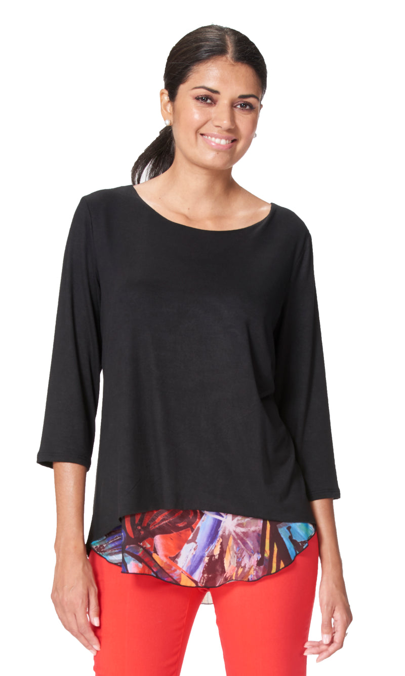 Africa - 7707- Rayon Sleeve Top