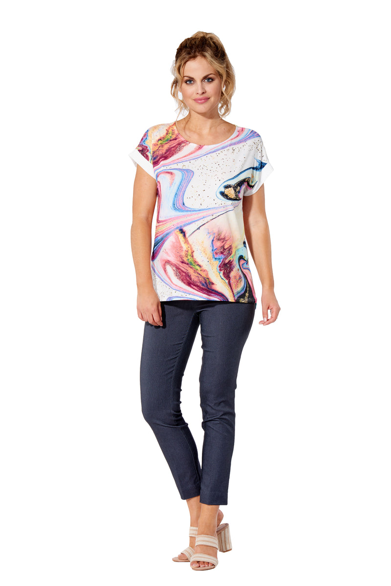 Skye - 7309 - Top Round Neck Short Sleeve