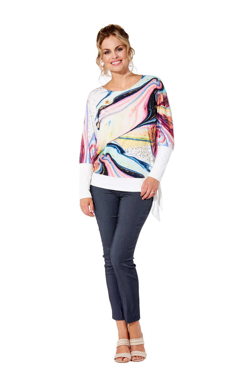 Skye - 7303 - Top Round Neck Long Sleeve
