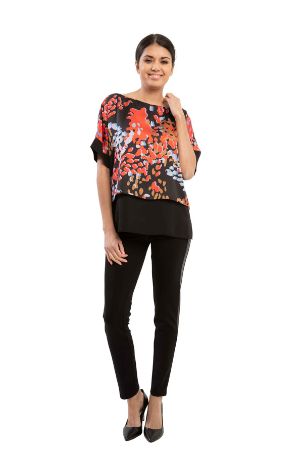 Thea - 7706 - Speckled Splash  Blouse