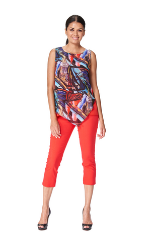 Africa - 5707- Chiffon Sleeveless Top
