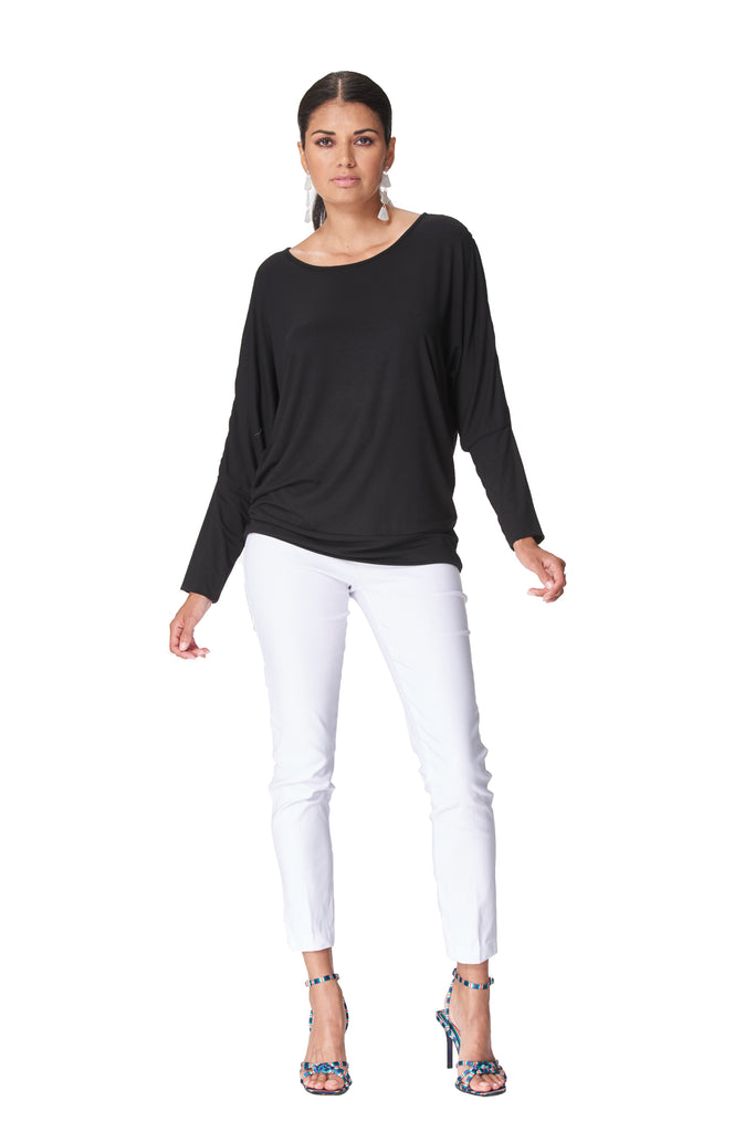 Milano - 7629 - Long Sleeve Dolman Top