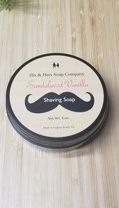 Sandalwood Vanilla Shaving Soap