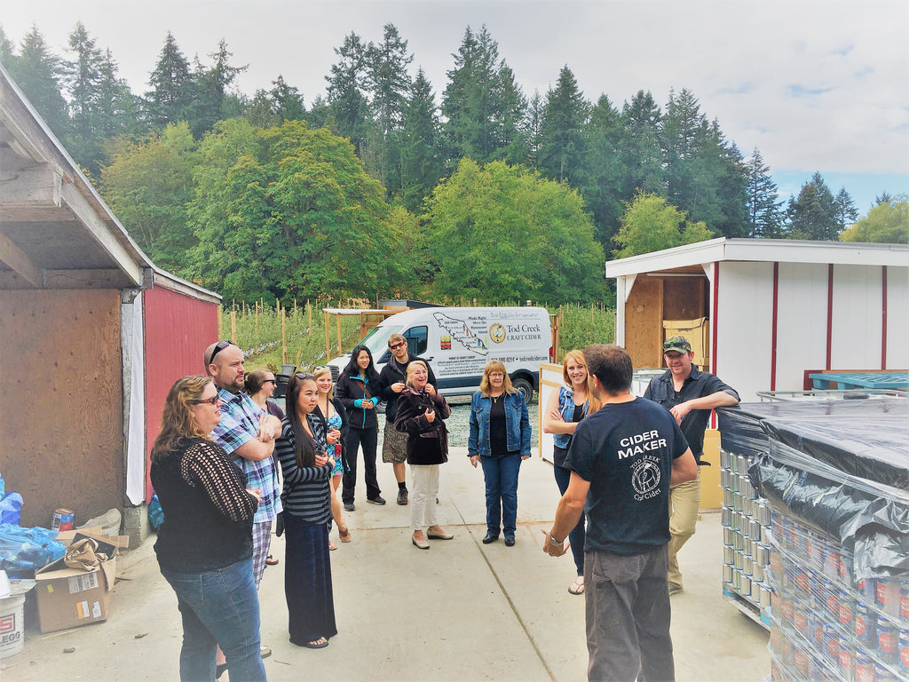 Tod Creek BC Craft Cider Tour