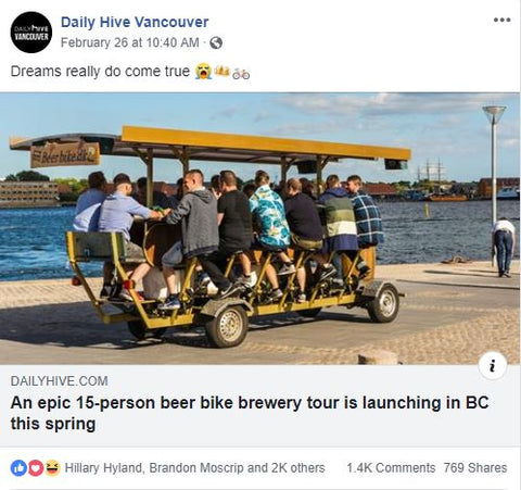 Daily Hive Beer Bike Article
