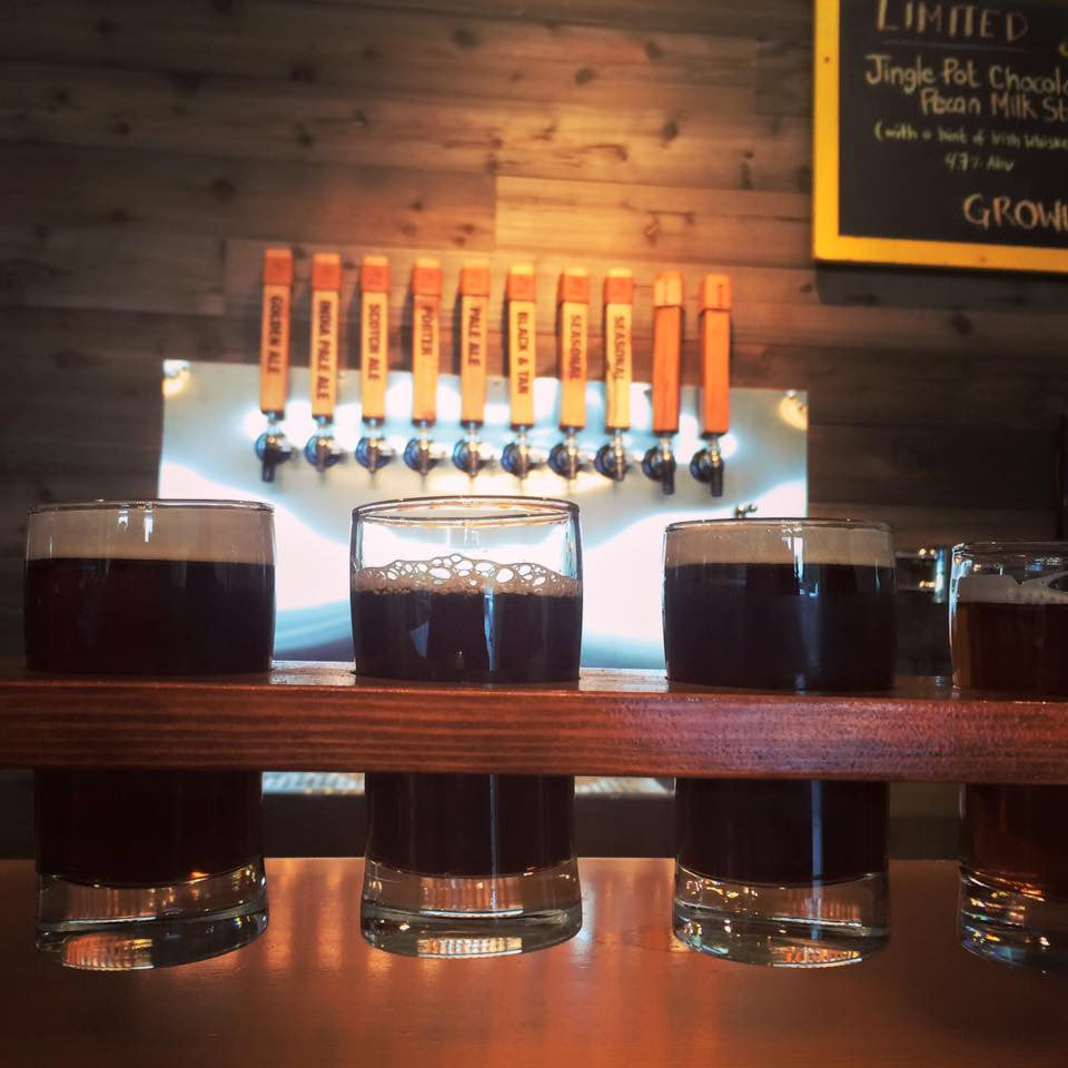 Wolf Brewing flight