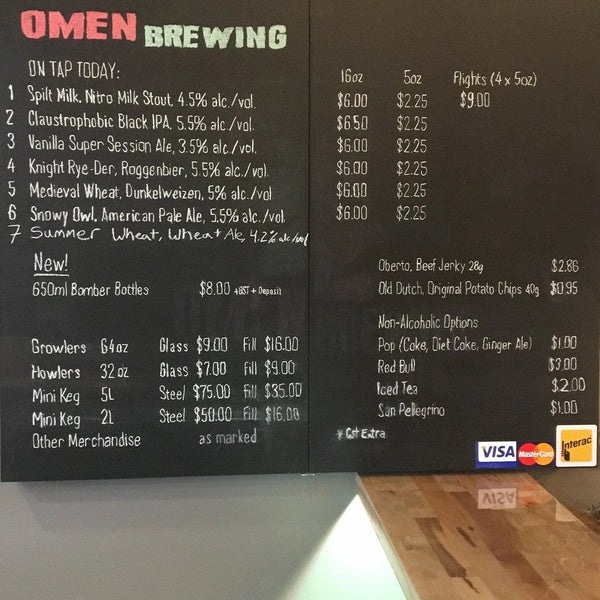Omen Brewing Beers