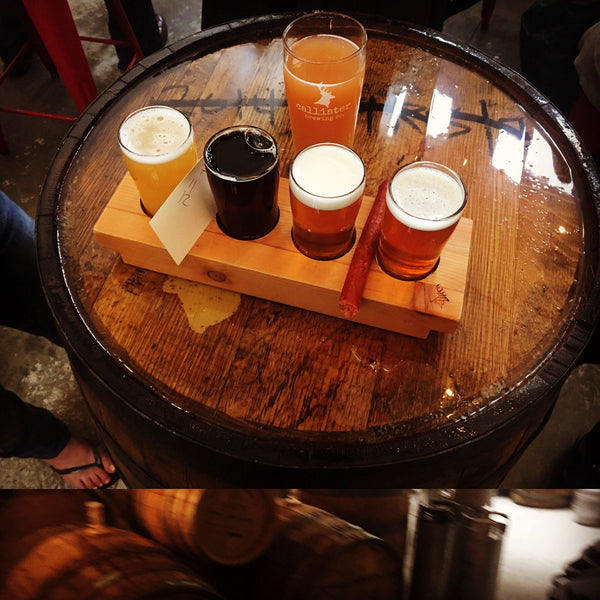beer flight at Vancouver Brewery Tour