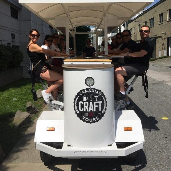 Group Tour Vancouver Beer Bike