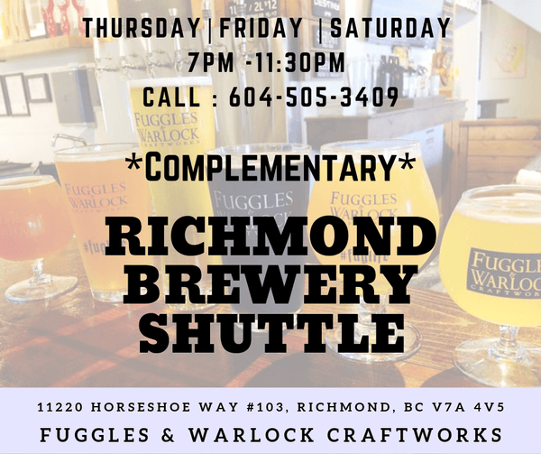 Richmond Brewery Shuttle - Fuggles Shuttle