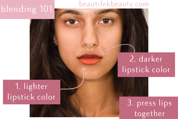 blending lipstick color organic beauty green beauty