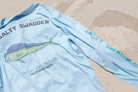 Mahi Mahi Performance Shirt - Blue