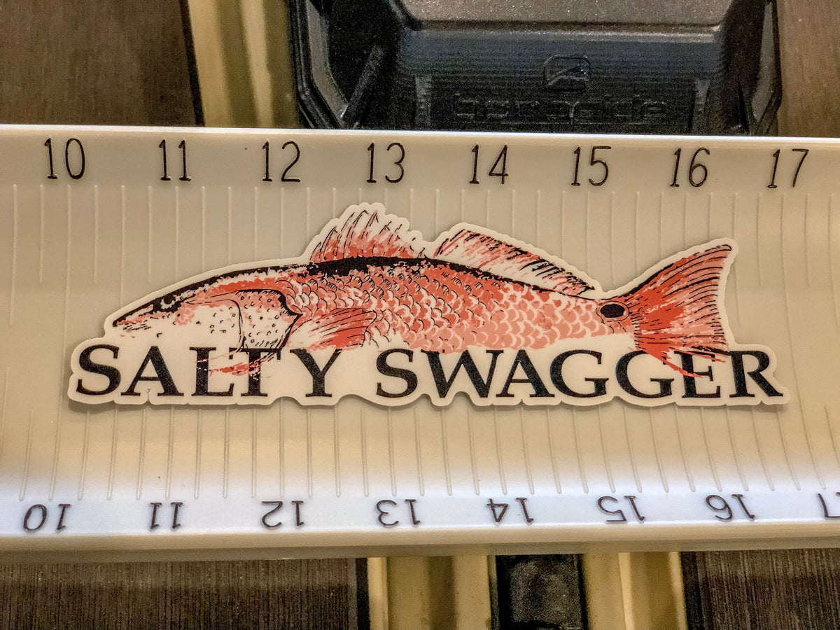 Salty Swagger Redfish Decal