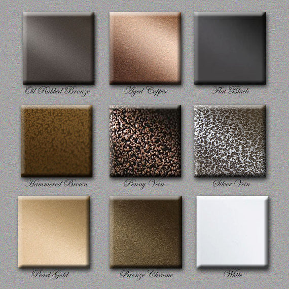 Sam's Metal Works -Product Color Chart