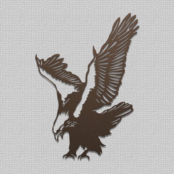 American Bald Eagle Wall Hanging Art Metal Silhouette for Indoor or Outdoor Use - Sam's Metal Works - 2