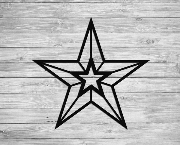 Wall Hanging Metal Star for Indoor or Outdoor Use - Sam's Metal Works - 3